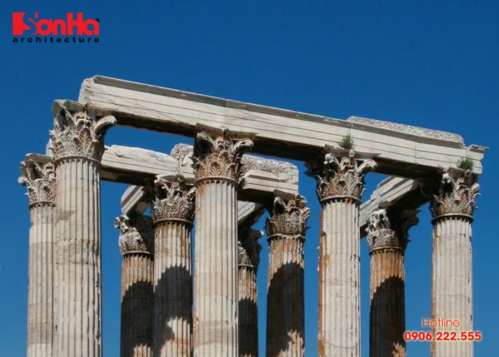 Dori là một trong ba thức cột điển hình trong thiết kế biệt thự cổ