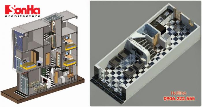 Hoàn thiện nhà lệch tầng sẽ cao hơn so với chi phí xây nhà ống kiểu truyền thống