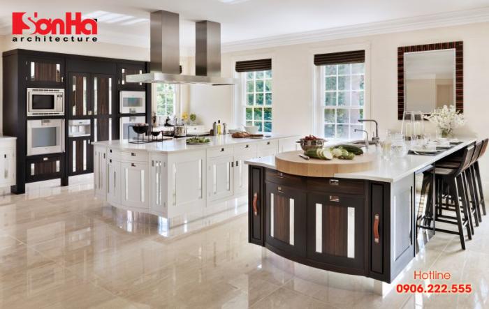Lựa chọn bàn bếp bằng đá cẩm thạch cho nội thất bếp hiện đại