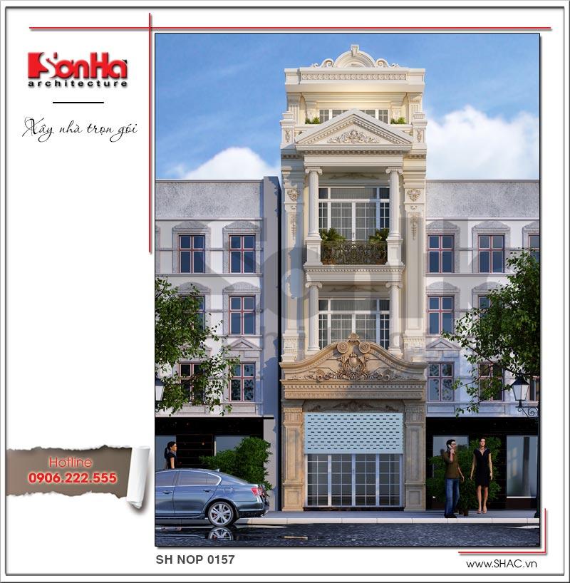 Mẫu thiết kế nhà phố dài 20m đẹp tại Quảng Ninh nhất định bạn phải xây