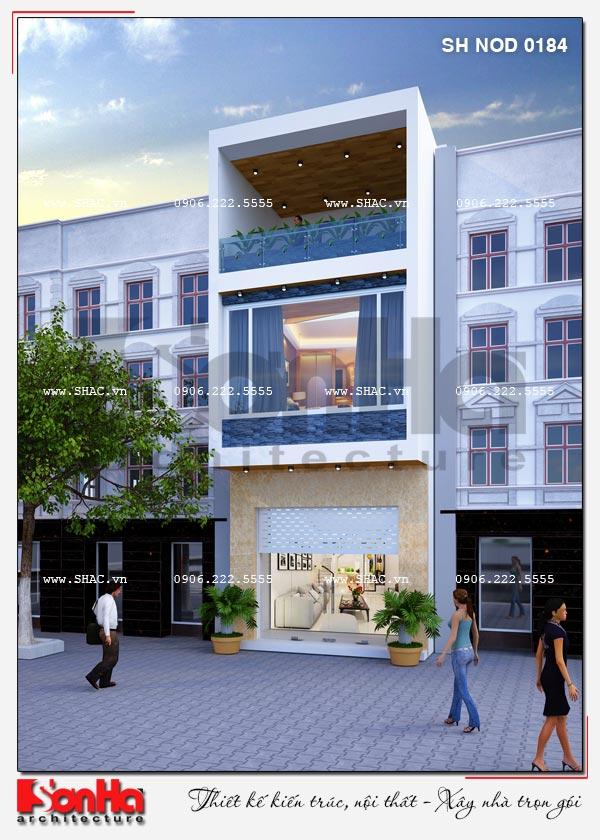 Ý tưởng thiết kế mặt tiền nhà phố dài 20m tuy giản dị nhưng ấn tượng mãn nhãn