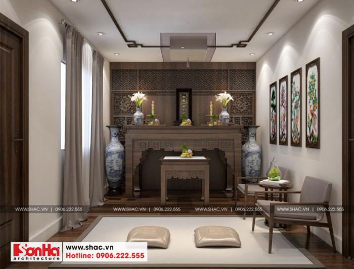 14-mau-noi-that-phong-tho-nha-ong-hien-dai-3-tang-tai-hai-phong-700x533 Thiết kế nội thất nhà phố hiện đại diện tích 5x20m