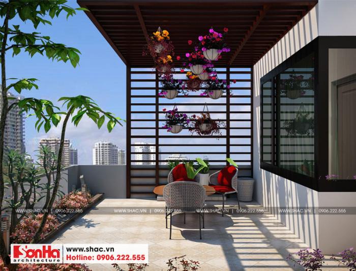 16-thiet-ke-noi-that-tieu-canh-san-vuon-nha-ong-hien-dai-tai-hai-phong-700x533 Thiết kế nội thất nhà phố hiện đại diện tích 5x20m