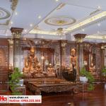 17 Thiết kế nội thất phòng thờ biệt thự tân cổ điển 3 tầng tại sài gòn sh btp 0131