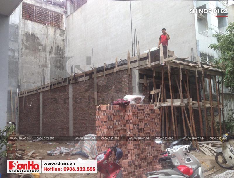 Thiết kế nhà ống tân cổ điển 4 tầng mặt tiền 5m tại Hải Phòng – SH NOP 0182 9
