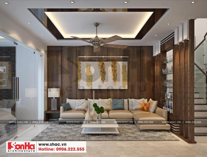 2-mau-noi-that-phong-khach-nha-ong-hien-dai-3-tang-tai-hai-phong-700x533 Thiết kế nội thất nhà phố hiện đại diện tích 5x20m