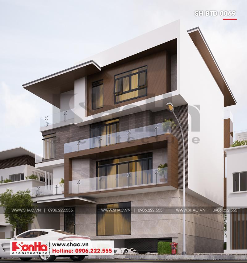 Ngoại thất mãn nhãn của mẫu thiết kế biệt thự hiện đại 5 tầng đón đầu 2019