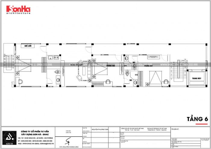 20 Mặt bằng công năng tầng 6 căn hộ cho thuê tại hải phòng