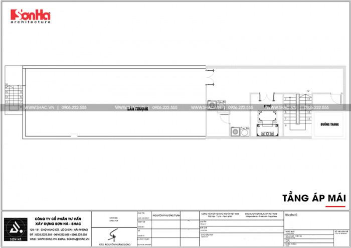 21 Mặt bằng công năng tấng áp mái căn hộ cho thuê tại hải phòng