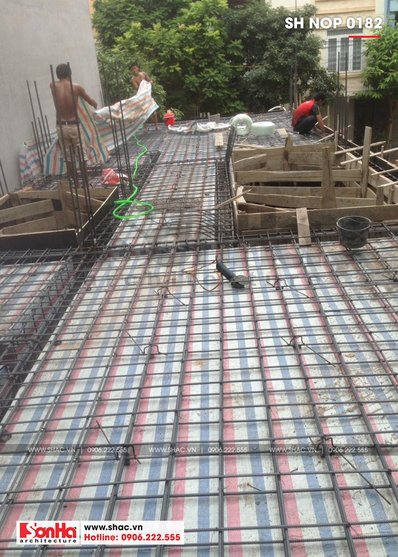 Thiết kế nhà ống tân cổ điển 4 tầng mặt tiền 5m tại Hải Phòng – SH NOP 0182 11