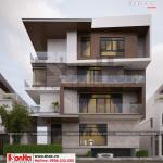 3 Thiết kế biệt thự hiện đại mặt tiền 15m tại thái bình sh btd 0069