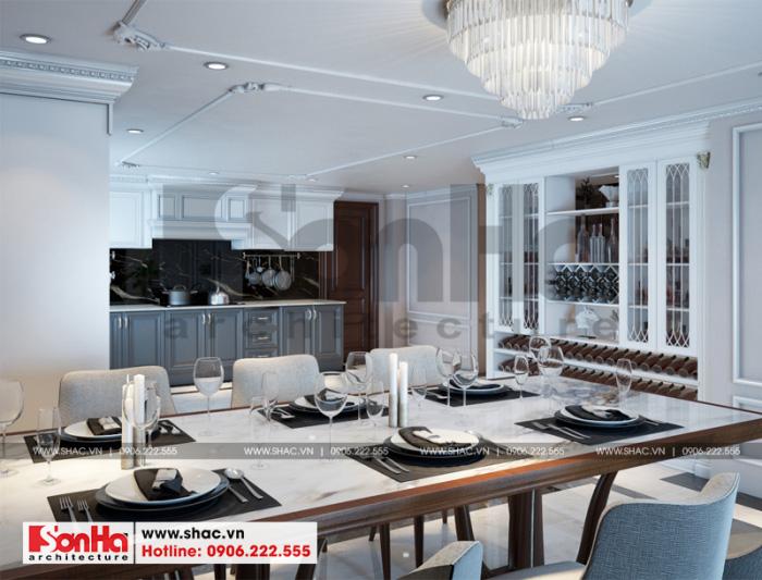 3 Thiết kế nội thất phòng bếp ăn biệt thự tân cổ điển đẹp tại hải phòng