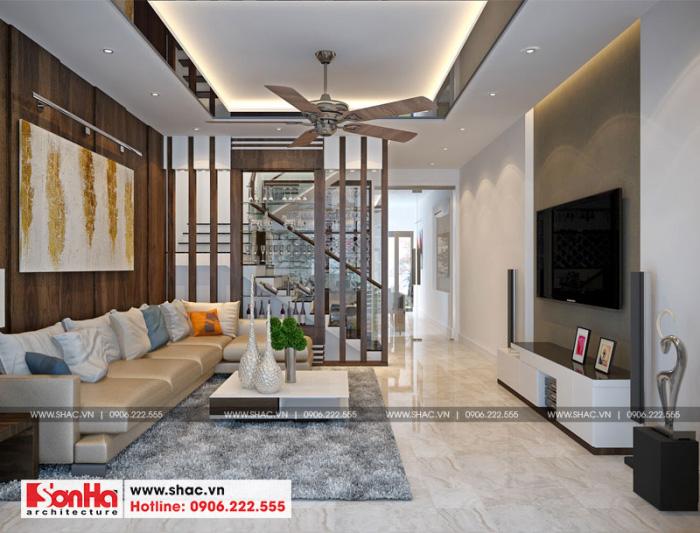 3-thiet-ke-noi-that-phong-khach-nha-ong-hien-dai-mat-tien-5m-tai-hai-phong-700x533 Thiết kế nội thất nhà phố hiện đại diện tích 5x20m