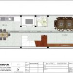 4 Mặt bằng công năng tầng 1 nhà ống tân cổ điển pháp tại hải phòng sh nop 0182