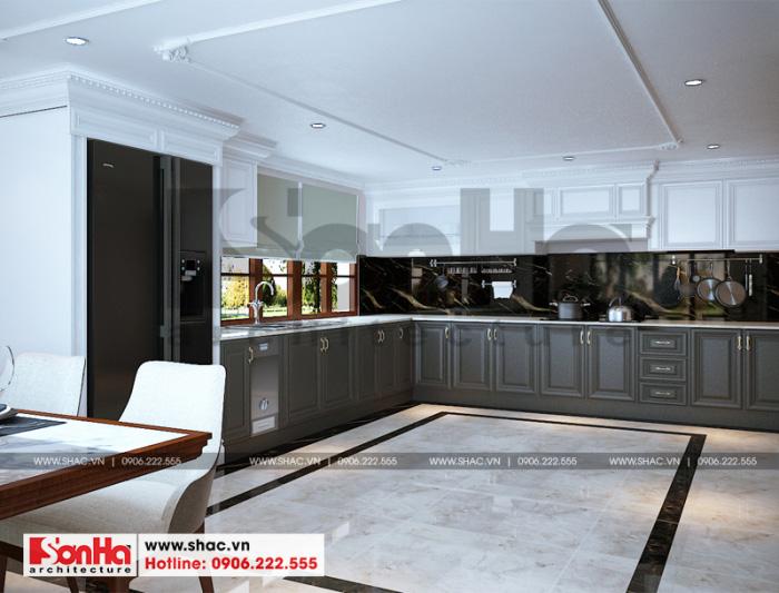 4 Mẫu nội thất phòng bếp ăn biệt thự tân cổ điển mặt tiền 7,4m tại hải phòng