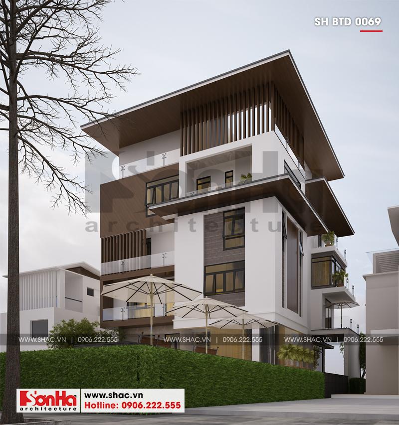 Biệt thự phố hiện đại mặt tiền 15m có tầng hầm tại Thái Bình – SH BTD 0069 4