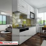 4 Mẫu thiết kế nội thất phòng bếp ăn hiện đại căn hộ cho thuê tại hải phòng