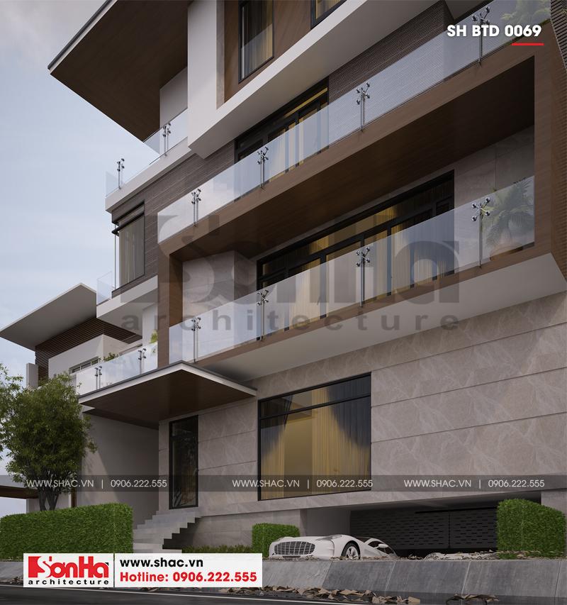 Biệt thự phố hiện đại mặt tiền 15m có tầng hầm tại Thái Bình – SH BTD 0069 5