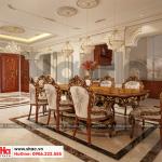 5 Thiết kế nội thất phòng bếp ăn biệt thự tân cổ điển mặt tiền 18,3m tại sài gòn sh btp 0131