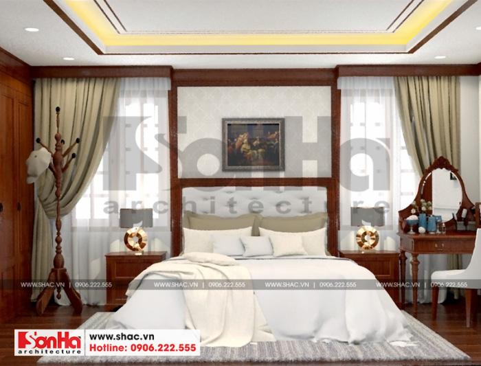 5 Thiết kế nội thất phòng ngủ 1 biệt thự tân cổ điển tại hải phòng