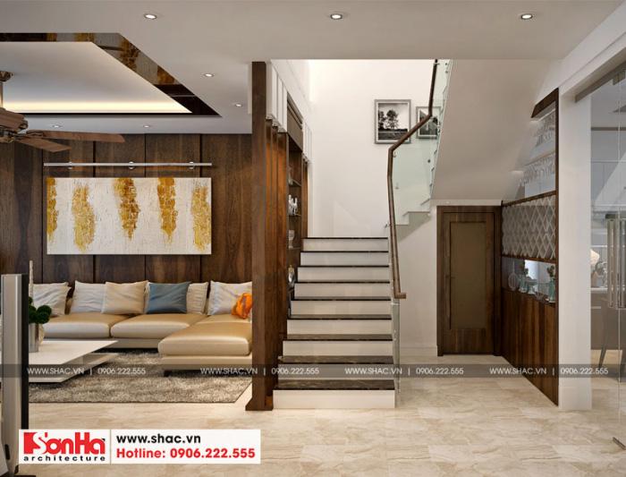 6-mau-noi-that-sanh-thang-nha-ong-hien-dai-3-tang-tai-hai-phong-700x533 Thiết kế nội thất nhà phố hiện đại diện tích 5x20m