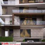 6 Mẫu thiết kế biệt thự hiện đại mặt tiền 15m tại thái bình sh btd 0069
