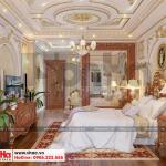 7 Thiết kế nội thất phòng ngủ giám đốc biệt thự tân cổ điển 3 tầng tại sài gòn sh btp 0131