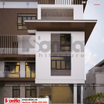 8 Mẫu thiết kế biệt thự hiện đại 5 tầng tại thái bình sh btd 0069