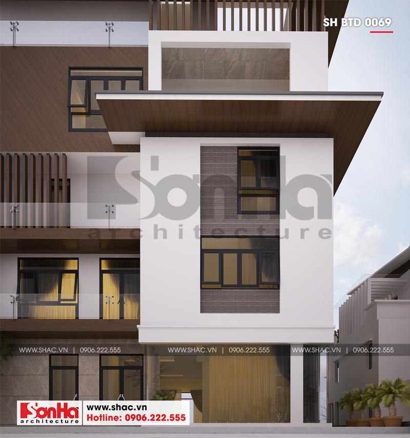 Biệt thự phố hiện đại mặt tiền 15m có tầng hầm tại Thái Bình – SH BTD 0069 8