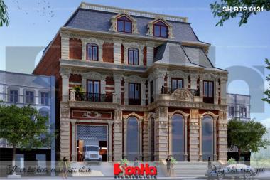 BÌA thiết kế biệt thự tân cổ điển 3 tầng mặt tiền 18,3m tại sài gòn sh btp 0131