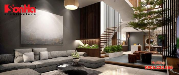 Chuyên gia thiết kế nhà bật mí Tại sao nên bố trí giếng trời kết hợp cầu thang