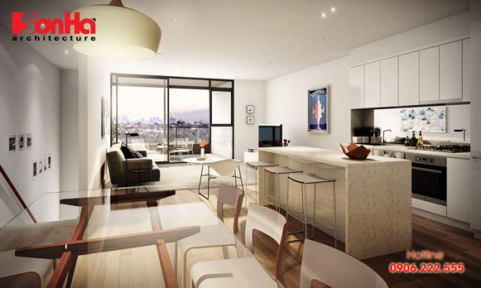 Thêm một phương án thiết kế phòng khách căn hộ chung cư hiện đại