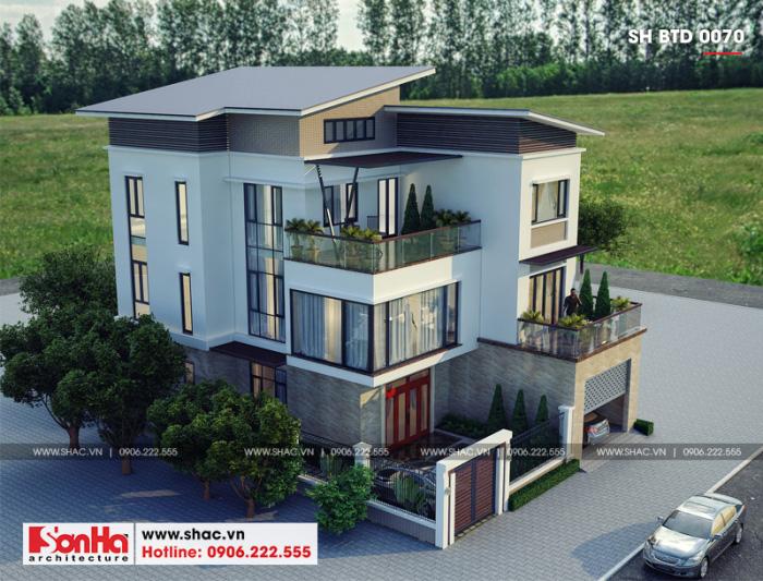 Mẫu thiết kế biệt thự hiện đại đẹp tại Quảng Ninh trang trí giản dị hợp xu hướng