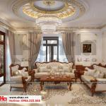 1 Thiết kế nội thất phòng khách tân cổ điển biệt thự đơn lập khu đô thị Senturia Vườn lài An Phú Đông sài gòn