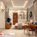 10 Mẫu nội thất phòng ngủ 1 biệt thự tân cổ điển mặt tiền 10m tại hà nội sh btp 0132