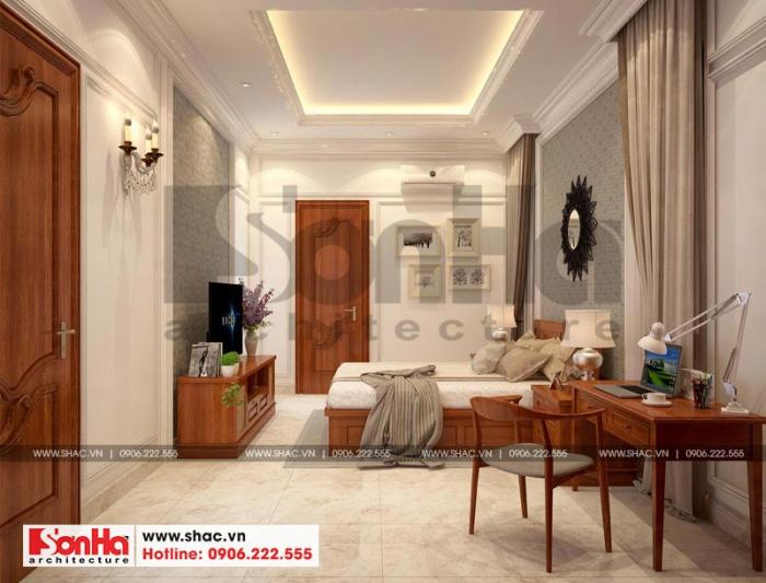 Mọi phòng ngủ của ngôi biệt thự đẹp tại Hà Nội đều có phòng về sinh khép kín