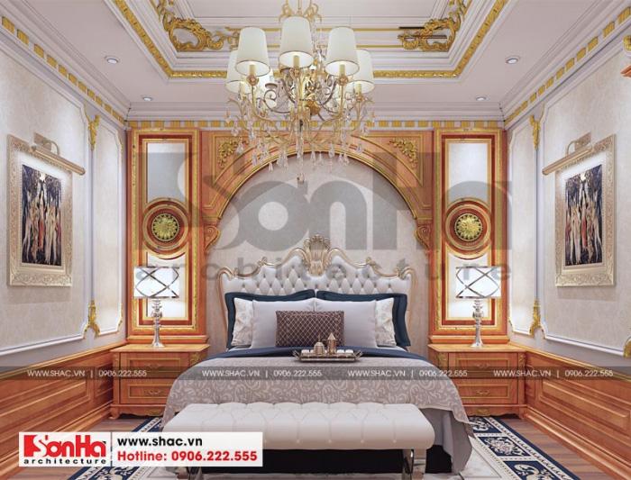 Không gian phòng ngủ master đẹp và sang cho biệt thự đẳng cấp tại Senturia Vườn Lài