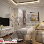 14 Mẫu nội thất phòng ngủ 3 biệt thự tân cổ điển 3 tầng tại hà nội sh btp 0132