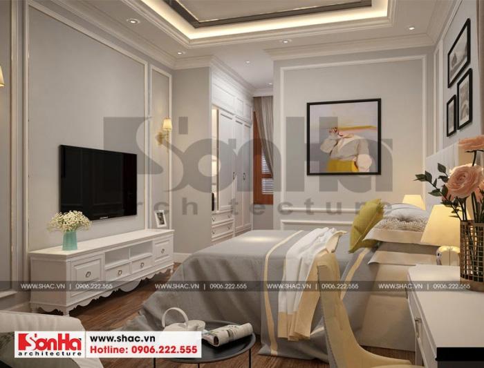 Phong cách tân cổ điển giúp phòng ngủ biệt thự càng thêm tinh tế và ấn tượng