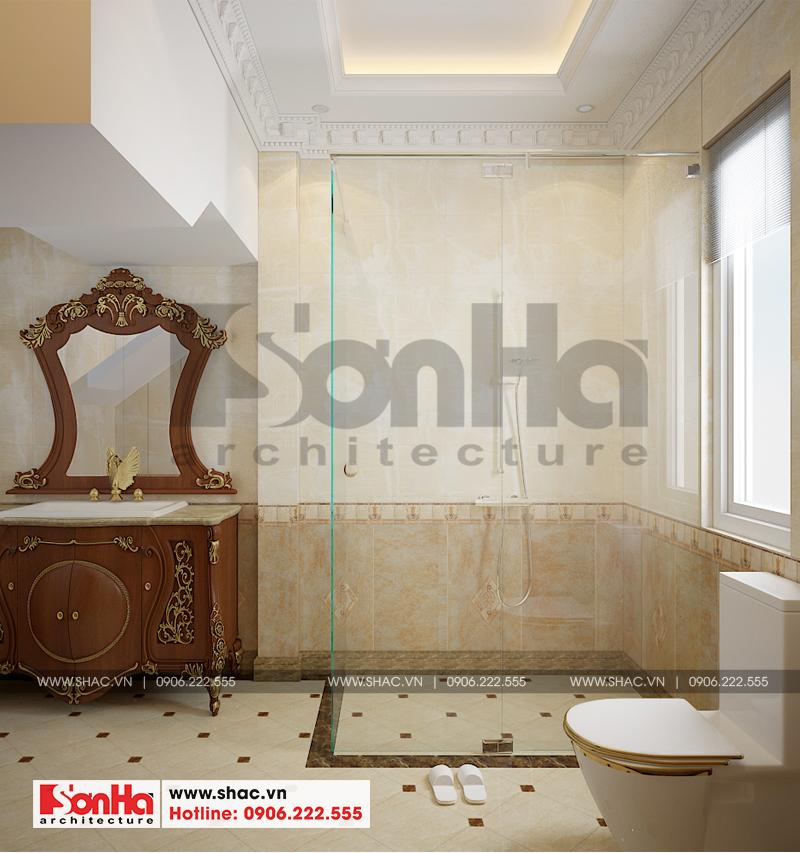 Thiết kế phòng tắm và vệ sinh biệt thự phong cách tân cổ điển tại Senturia Vườn Lài