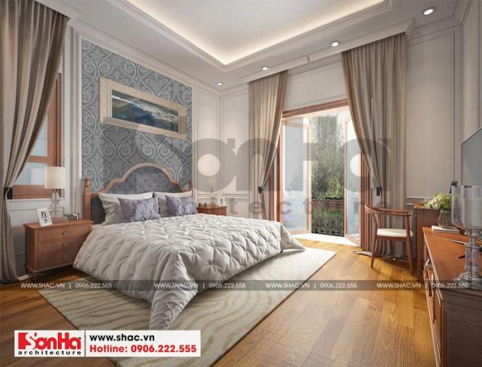 Một trong những mẫu phòng ngủ thoáng đãng và tiện nghi nhất trong ngôi biệt thự
