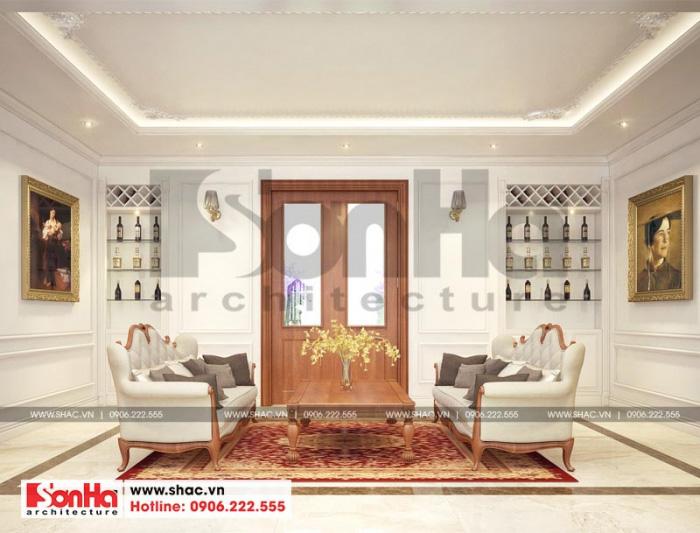 Thiết kế nội thất phòng sinh hoạt chung chi biệt thự đẹp phong cách tân cổ điển