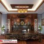 19 Thiết kế nội thất phòng thờ biệt thự tân cổ điển đẹp tại hà nội sh btp 0132