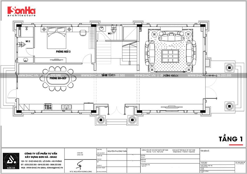 Mẫu biệt thự tân cổ điển 3 tầng mặt tiền rộng 10m tại Hà Nội - SH BTP 0132 5