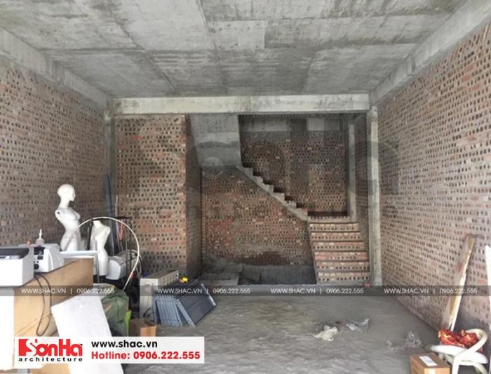 Hiện trạng ngôi nhà phố của chị Nương trước thiết kế thi công nội thất