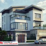3 Thiết kế biệt thự hiện đại mặt tiền 13,5m tại quảng ninh sh btd 0070