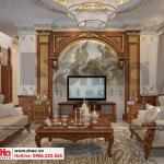 3 Thiết kế nội thất phòng khách tân cổ điển khu đô thị Senturia Vườn lài An Phú Đông Sài Gòn