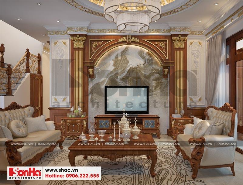 Thiết kế nội thất biệt thự đơn lập phong cách tân cổ điển tại Senturia Vườn Lài (Sài Gòn) 3