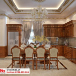 5 Thiết kế nội thất phòng bếp ăn tân cổ điển khu đô thị Senturia Vườn lài An Phú Đông Sài Gòn