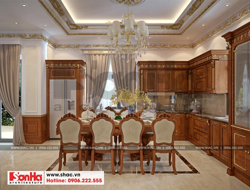 Thiết kế nội thất biệt thự đơn lập phong cách tân cổ điển tại Senturia Vườn Lài (Sài Gòn) 6